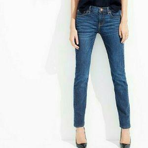 J. Crew Matchstick Straight Leg Dark Wash Jeans